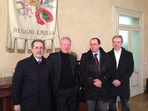 14 febbraio 2014: Gianni Bottalico, presidente nazionale Acli, incontra il vescovo di Piacenza, mons. Gianni Ambrosio