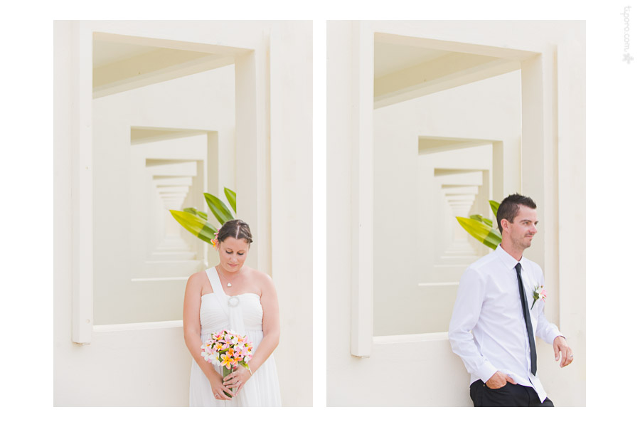 Bride and Groom. wedding photographer Rarotonga, portraits