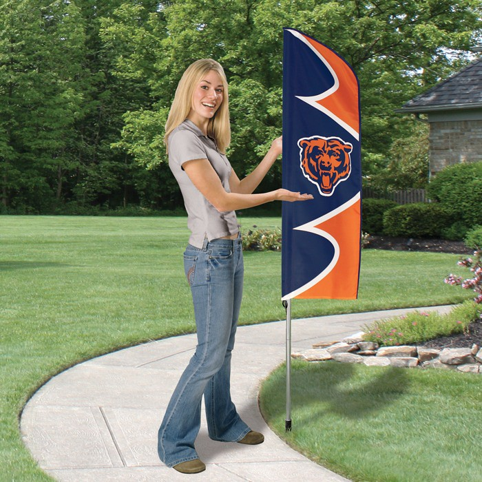 Chicago Bears Short Feather Flag