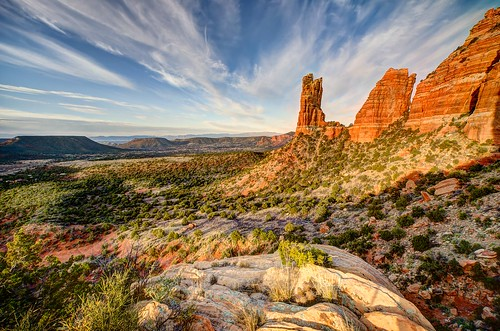 sunset arizona sky mountain clouds sunrise landscape pillar meadow sedona az panoram villageofoakcreek