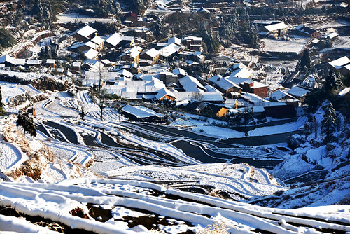 Snowy Terraces & village 雲和梯田