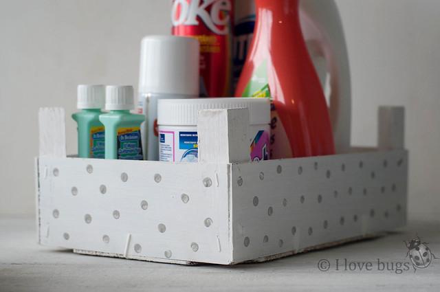 cajas de fresas con lunares