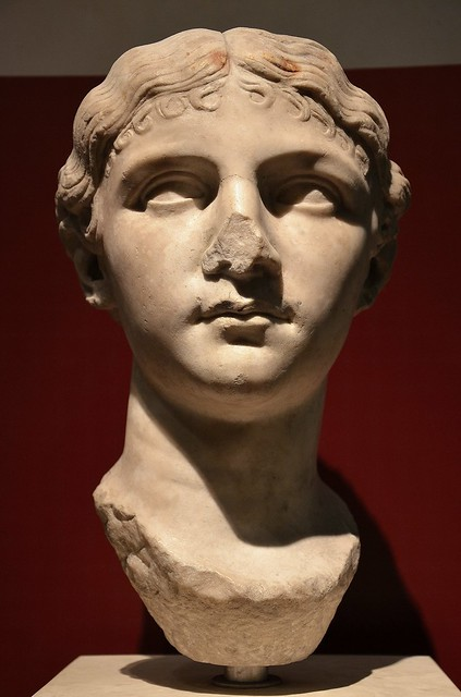 Antonia Minor, the youngest daughter of Octavia Minor and Mark Antony, 1st century A.D., Palazzo Massimo alle Terme, Rome