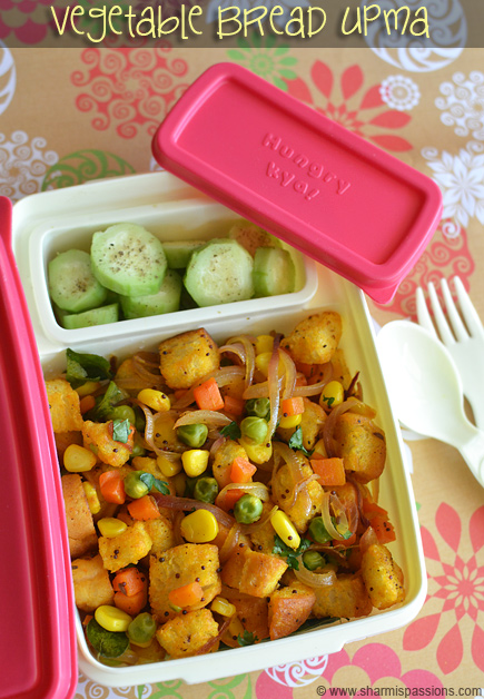 Kids lunch box recipes lunchbox idea 12 vegetable bread upma vegetable bread upma cucumber salad forumfinder Gallery