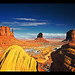 A Classic View of Monument Valley Navajo Tribal Park (Tse' Bii' Ndzisgaii), Utah & Arizona, American Southwest by Sam Antonio Photography