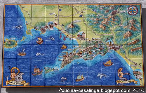 Sorrentinische Halbinsel Fliesenbild