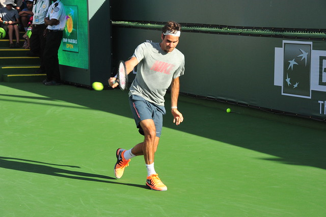 Working on the backhand.