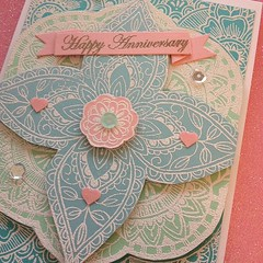 Anniversary card for my parents made with my new @official_basicgrey and @heroarts products I won recently! Inspiration for card by @Jennifer ifermcguireink