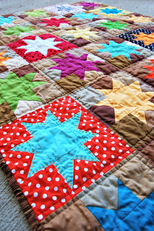 Wonky Stars Quilt A