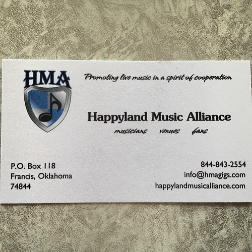 Our business cards have arrived! #hmagigs