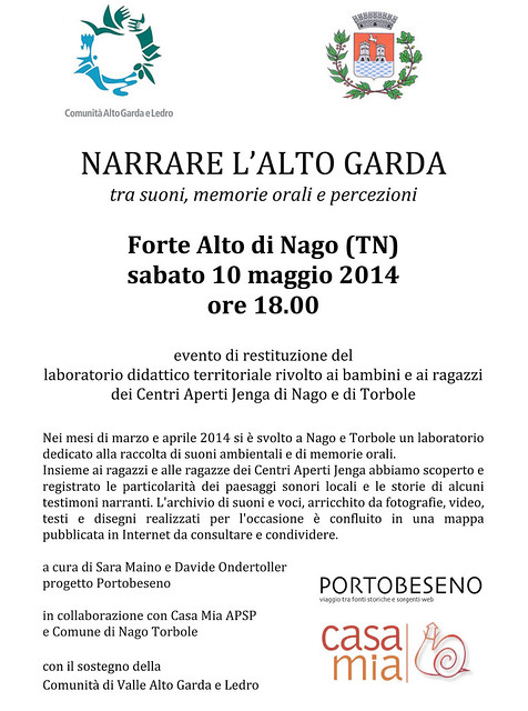 invito Narrare Alto Garda 2014