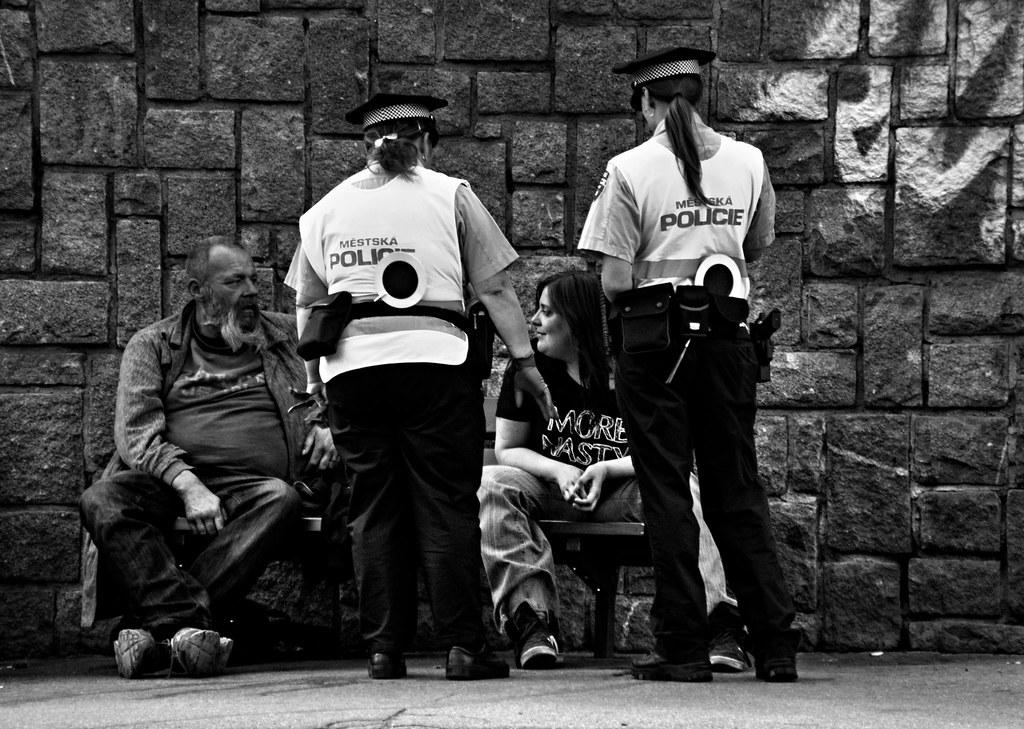 Keep Calm and Fuck the Police :-) (B&W)