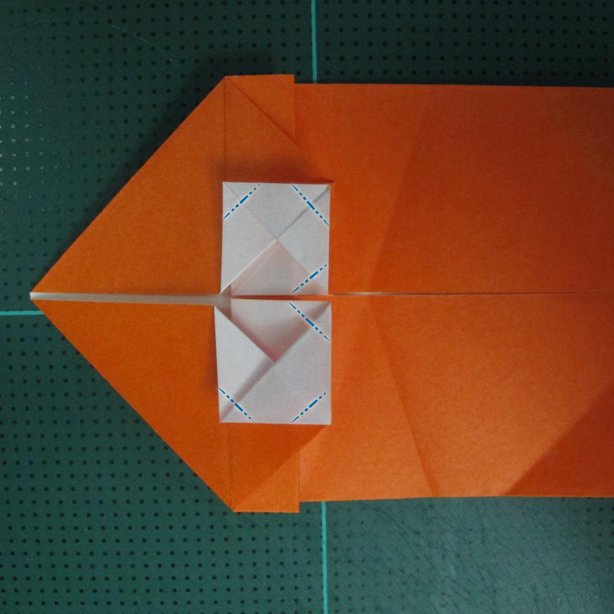 การพับกระดาษเป็นรูปปลาทอง (Origami Goldfish) 012