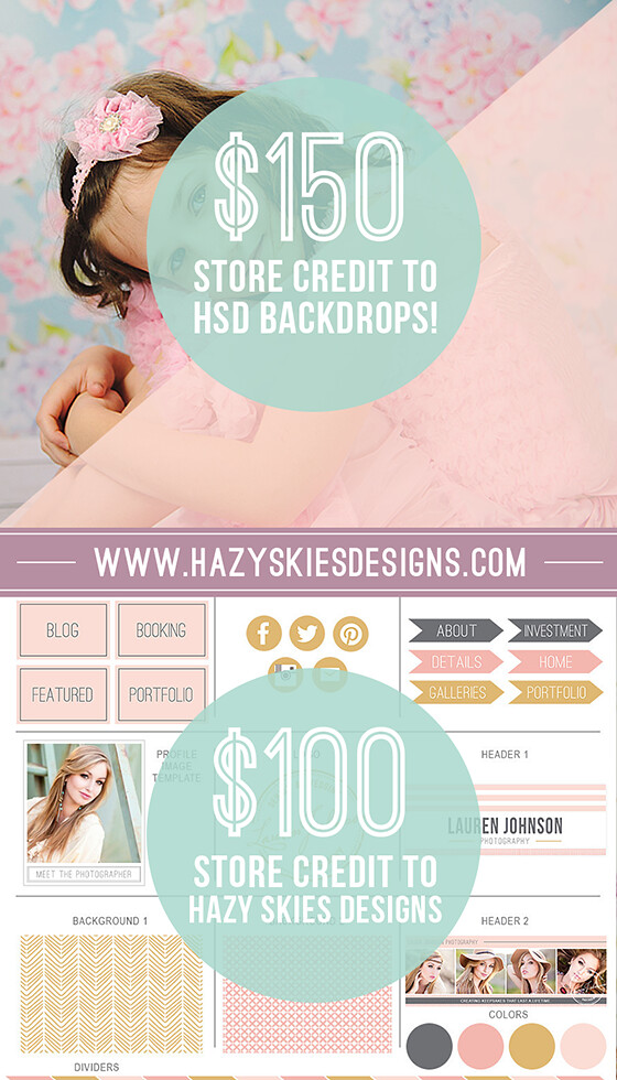 HSD Photography Backdrops Giveaway www.hsdbackdrops.com