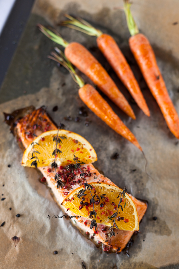 Roasted Salmon with Oranges-44