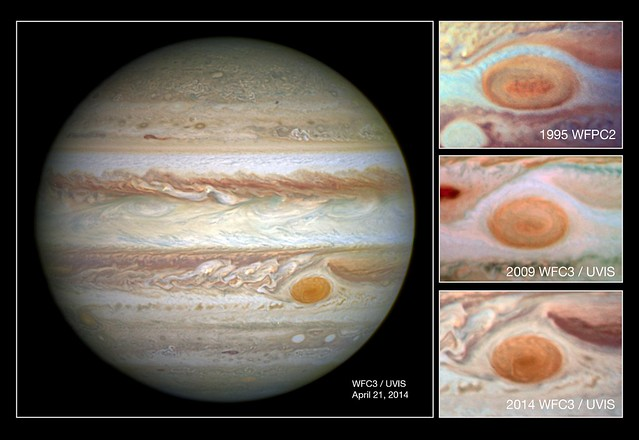 Photo:NASA's Hubble Shows Jupiter's Great Red Spot is Smaller than Ever By:NASA Goddard Photo and Video