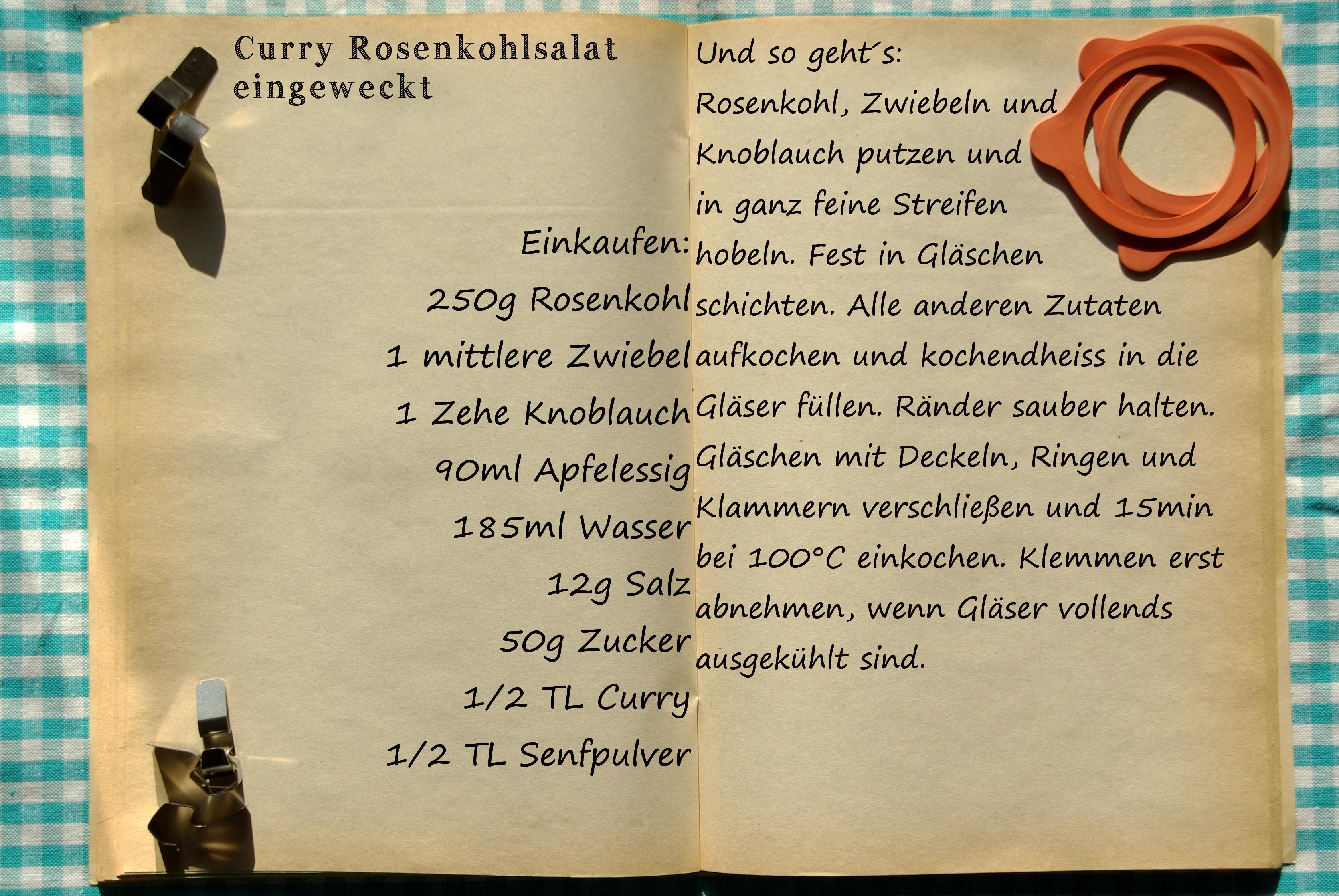 Einkaufszettel Curryrosenkohl by Glasgeflüster 1