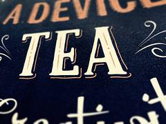 A tea-themed poster!