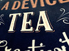A tea-themed poster! - Detail