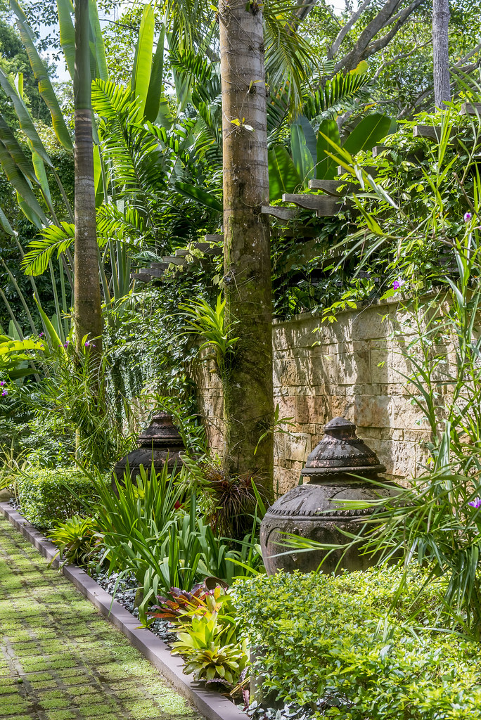 Front garden along courtyard wall