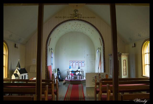 La antigua iglesia de Djúpivogur