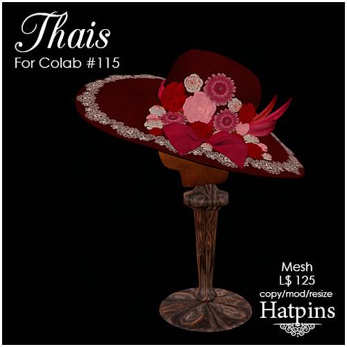 Hatpins - Thais Hat - Valentine