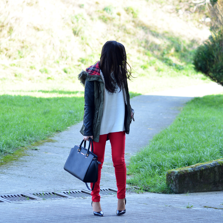 ZARA_ootd_chicwish_sheinside_parka_necklace_rojo_michael kors_05