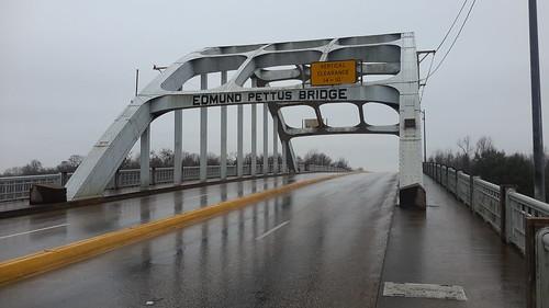 The famous Edmund Pettus Bridge