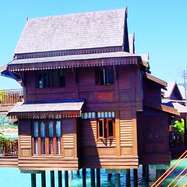 Bungalow Langkawi: Bungalow On The Sea At #Langkawi 2005 #Malaysia #island