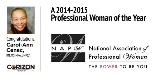 Corizon Nurse named Professional Woman of the Year by National Association of Professional Women (NAPW)