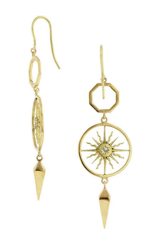 Sunburst Drop Earrings in Yellow Gold  by Heirloom 1