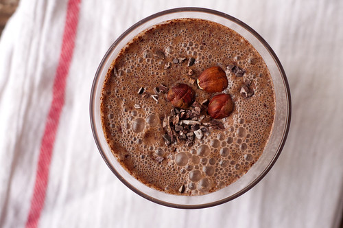 Chocolate hazelnut smoothie on eatlivetravelwrite.com