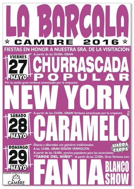 Cambre 2016 - Festas da Barcala - cartel