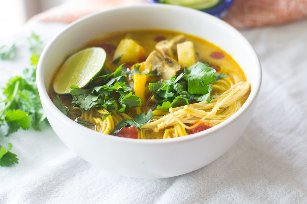 Vegetable Green Curry Soup via LittleFerraroKitchen.com