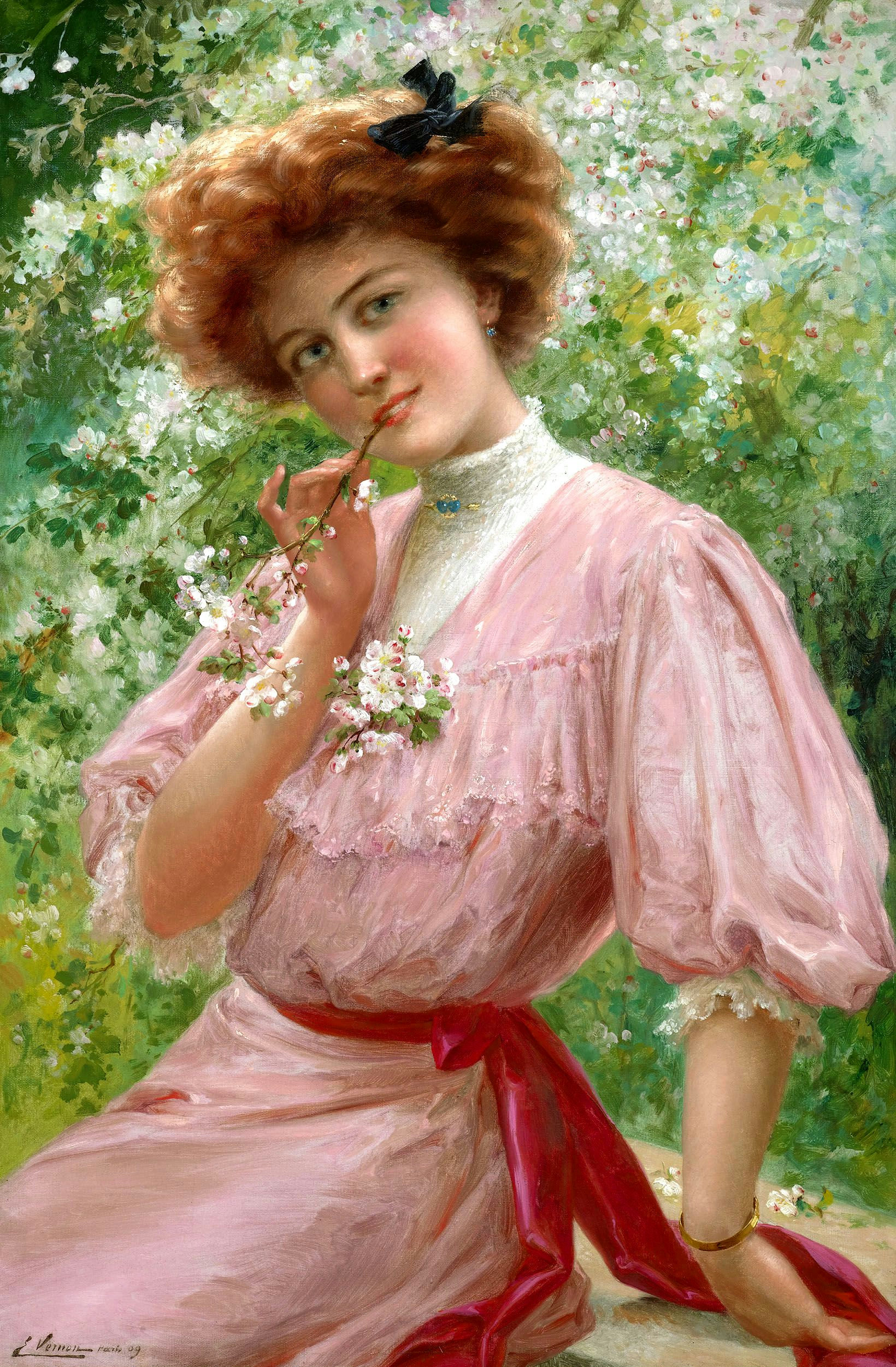 Pretty In Pink by Emile Vernon - 1909