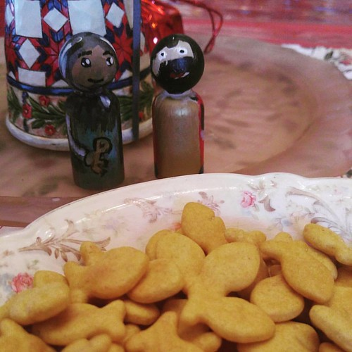 The feast of st. Peter and Paul...celebrated with gold fish crackers.