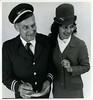 NZ Railways: Guard Tom Wood with hostess Leslie Turner