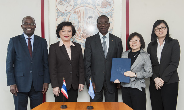 Signing Ceremony of a Cooperation Agreement on the Joint Capacity Building Activities under the ITU Academy's Centres of Excellence