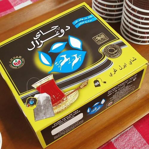そして、みんなで親睦会。イランの紅茶やスウィーツをいただきながら。アールグレイ、美味しい。 #りんごをかじろう