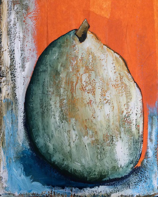 Anjou Pear #painting #paintsketch #gouache #artjournal #sketchbook