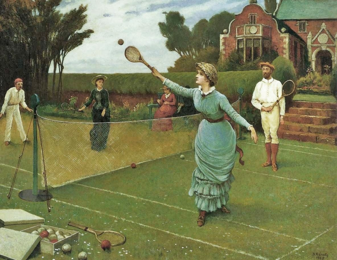 Tennis Players by Horace Henry Cauty, 1885