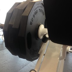Leg pres..450lbs x 10... Yes I did! Gong again!