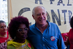 Former Illinois Governor Pat Quinn  and Friend Chicago Teachers Union Rally 6-22-16 2299