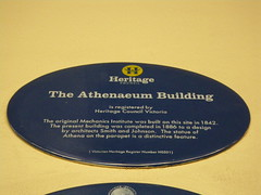 Photo of Athenaeum, Melbourne blue plaque