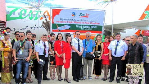 Zest Air to Kota Kinabalu Inaugural Flight