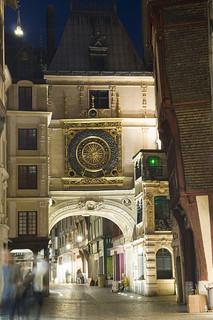Torre del reloj, en Rouen.