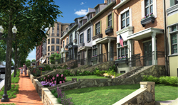 Cathedral Commons's townhouses (courtesy of Bozzuto)