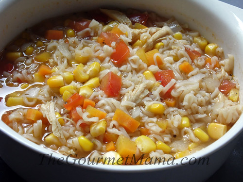 Chicken Vegetable Soup with Ramen Noodles