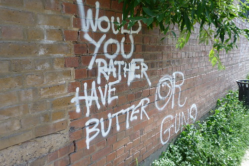 Would you rather have butter or guns