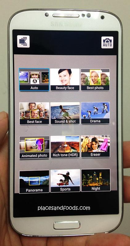Samsung S4 Camera Modes